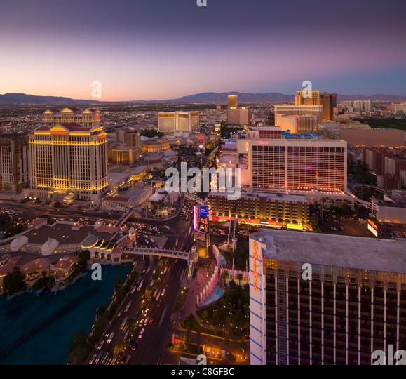 The Strip, Las Vegas, Nevada, United States of America - Stock Image