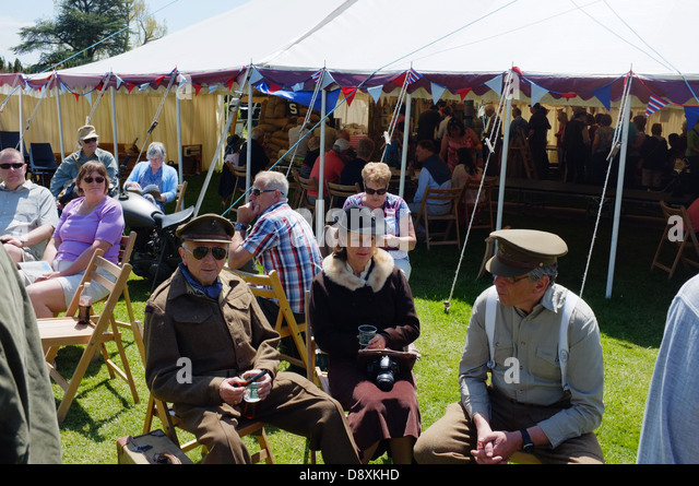 WW2 weekend 'Dig for Victory' day at The National Trust's Tyntesfield Estate - Stock Image