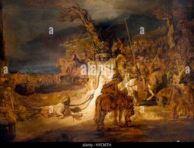 The Concord of the State, by Rembrandt, 1637-1645, Boijmans van Beuningen Museum, Rotterdam, Netherlands, Europe - Stock Image