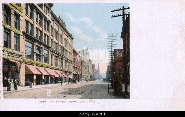 View of Gay Street, Knoxville, Tennessee, USA.      Date: 1903 - Stock-Bilder