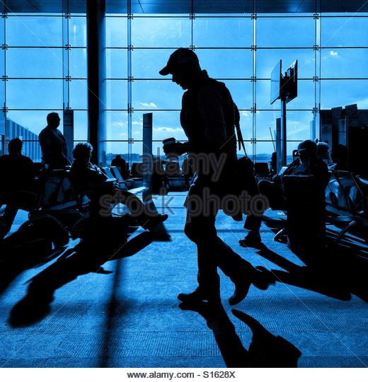 Airport blues - Stock-Bilder