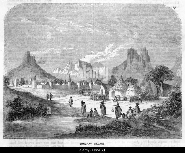 Mali Songhay Village - Stock Image