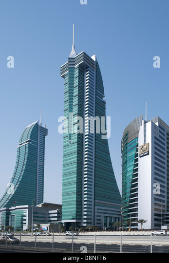 Financial Harbour Complex, Manama, Kingdom of Bahrain, Persian Gulf - Stock Image