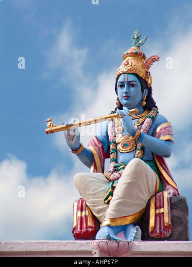 Stock Photo of Hindu God Lord Krishna - Stock Image
