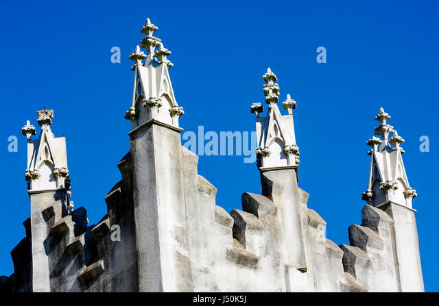 Alabama Union Springs South Powell Street First United Methodist Church 1903 turret - Stock Image