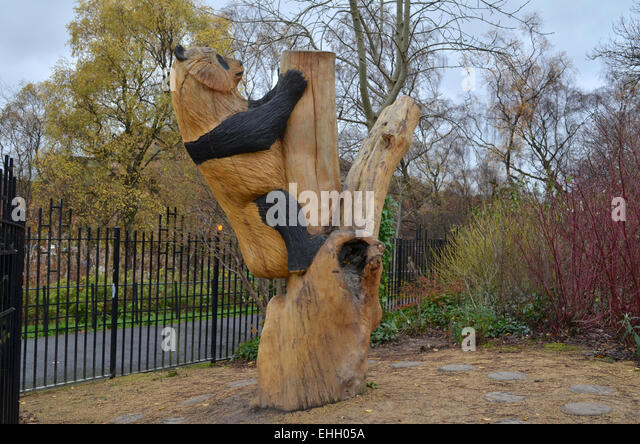 Wood carved sculpture stock photos
