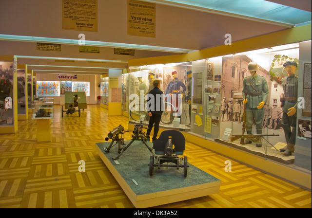 Armadni muzeum the military museum of Czechoslovakia Zizkov district Prague Czech Republic Europe - Stock Image