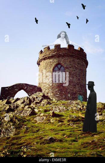 Castle scene - Stock Image