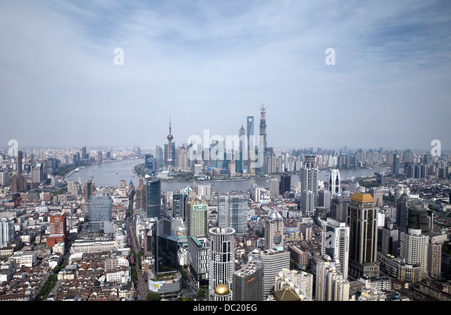 Cityscape of Shanghai, China - Stock Image