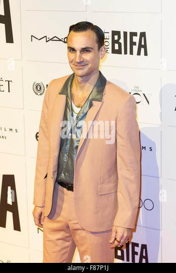 London, UK. 6 December 2015. Henry Lloyd-Hughes. Red carpet arrivals for the 2015 Moet British Independent Film - Stock Image