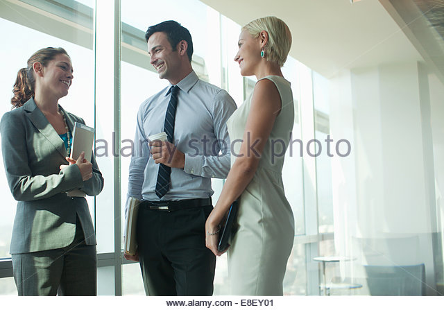Business people talking in office - Stock-Bilder