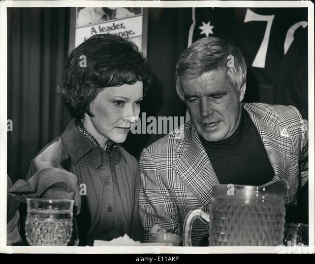 Oct. 10, 1976 - Visit of Rosalynn Carter to New York city. Candidate for first lady, Rosalynn Carter with actor - Stock Image