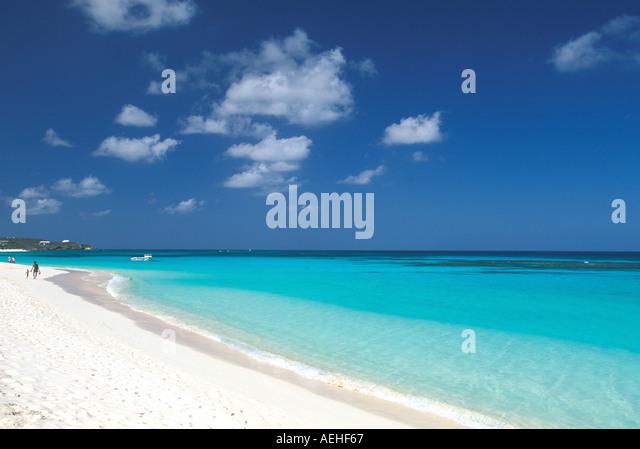 Anguilla Shoal Bay Beach - Stock Image