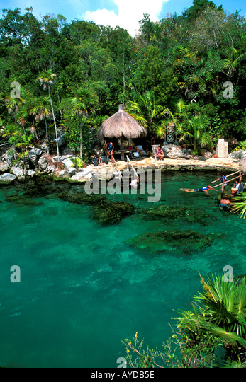Mexico Yucatan Cancun area Xel Ha water park - Stock Image