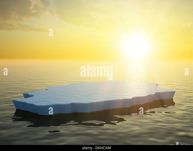 Sea ice, artwork - Stock Image