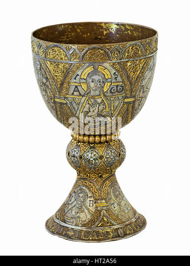 The Tassilo Chalice, ca 770. Artist: West European Applied Art - Stock Image