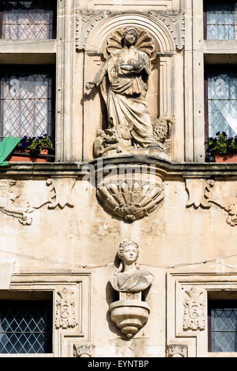 Europe. France. Bouches-du-Rhone. Alpilles. Tarascon. Detail of a Town Hall. - Stock Image