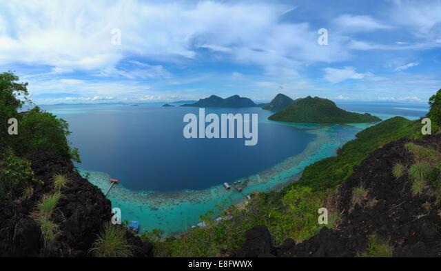 Malaysia, Sabah, Semporna, Mabul Island, Idyllic seascape - Stock Image
