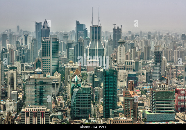 Shanghai is the largest city by population in the People's Republic of China - Stock Image