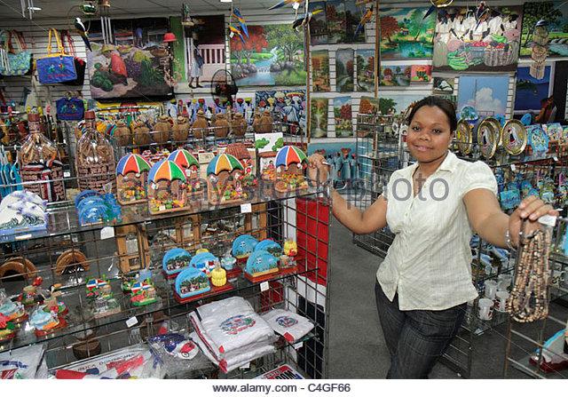 Santo Domingo Dominican Republic Ciudad Colonial Calle el Conde Peatonal pedestrian mall store souvenir shop business - Stock Image