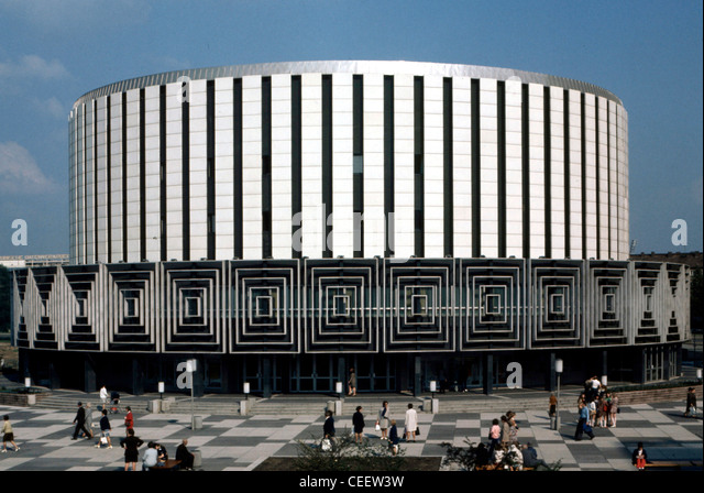 Dresden 1973: Cinema in the Prague street. - Stock Image