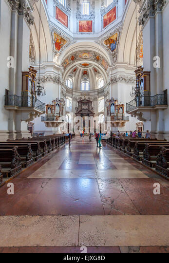 salzburg cathedral interior stock photos salzburg