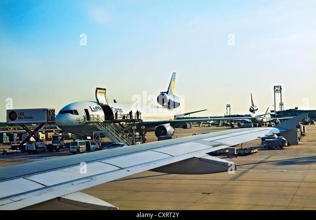 Lufthansa Cargo McDonnell-Douglas DC-10, Frankfurt Airport, Frankfurt am Main, Hesse, Germany, Europe - Stock Image
