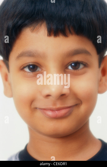 small young smiling boy portrait face close up   MR#152 - Stock Image