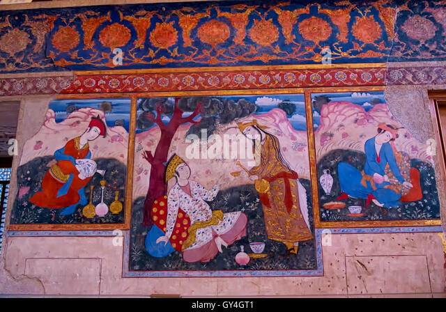 Fresco iran stock photos fresco iran stock images alamy for Clarks mural fresco