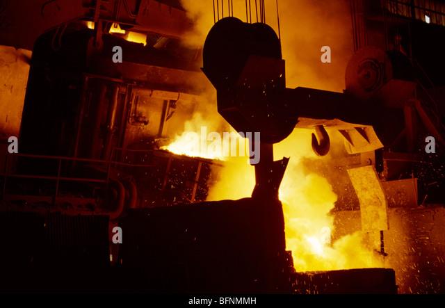 Steel plant - Stock-Bilder