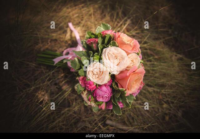 Different color flower bouquet stock photos different for Different color roses bouquet