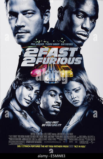 2 FAST 2 FURIOUS, US poster art, clockwise from top left: Paul Walker, Tyrese Gibson, Devon Aoki, Ludacris, Eva - Stock Image