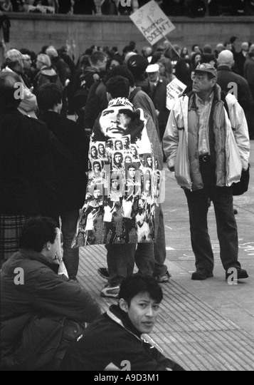 Anti Iraq War Demonstration in Trafalgar Square London England United Kingdom Europe - Stock Image