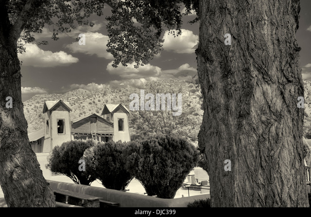 Santuario de Chimayo church. Chimayo, New Mexico - Stock-Bilder