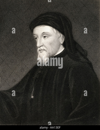 Geoffrey Chaucer circa 1342 or 1343 to 1400 English writer - Stock Image