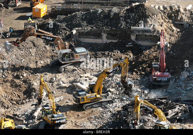 demolition - Stock-Bilder