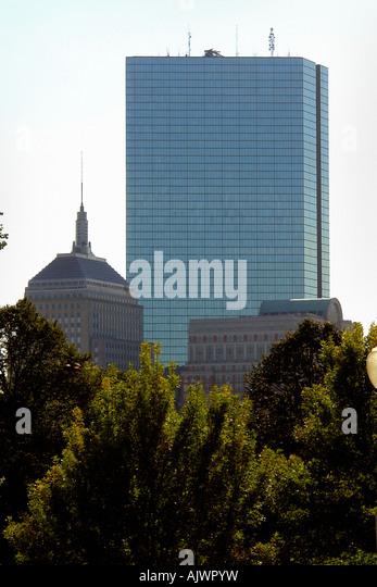 John Hancock Tower in Boston Massachusetts USA with Copy Space - Stock Image