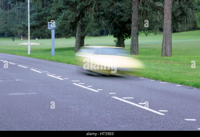 Speed Camera and road markings. Artist: Unknown. - Stock Image
