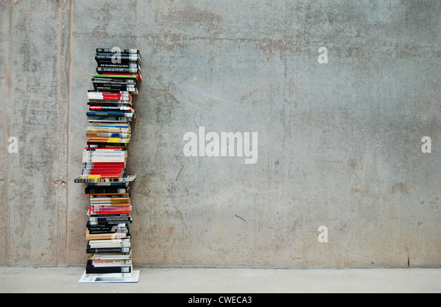 book,literature,stacking books - Stock Image