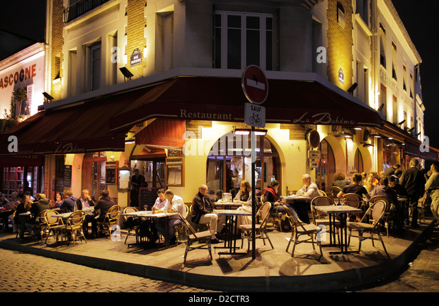 La boh me stock photos la boh me stock images alamy for Restaurant miroir montmartre