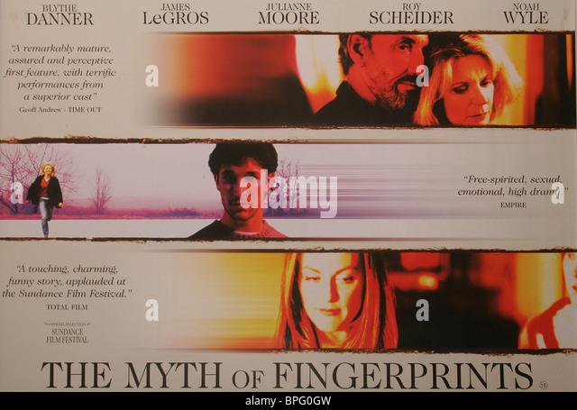 FILM POSTER THE MYTH OF FINGERPRINTS (1997) - Stock-Bilder