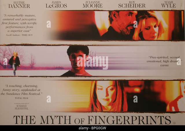 FILM POSTER THE MYTH OF FINGERPRINTS (1997) - Stock Image