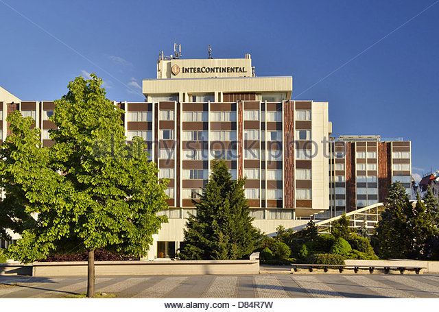 Intercontinental hotel prague stock photos for Modern hotel prague