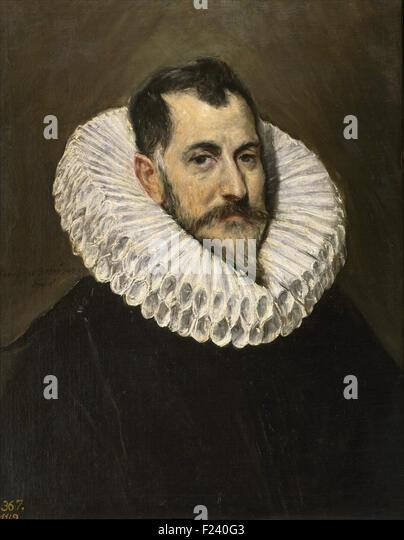 El Greco - Portrait of an Unknown Gentleman - Stock Image