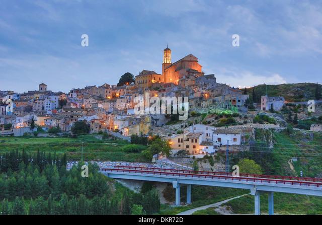Spain Europe Murcia Province Cehegin City Cehegin architecture bridge church landscape old pueblo skyline touristic - Stock Image