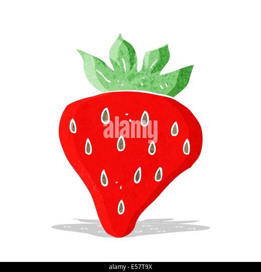 cartoon strawberry - Stock-Bilder