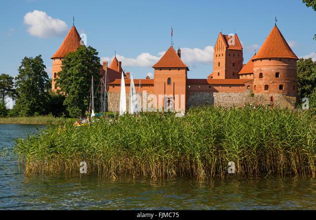 geography / travel, Lithuania, Trakai, Trakai Castle, Lietuva, Baltics, Baltic area, Baltic states, Baltic countries, - Stock-Bilder