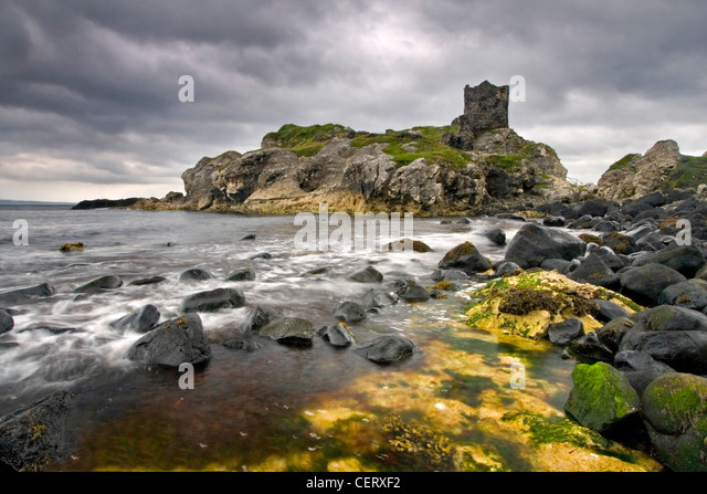 Ruins of Kinbane, Northern Ireland. - Stock-Bilder