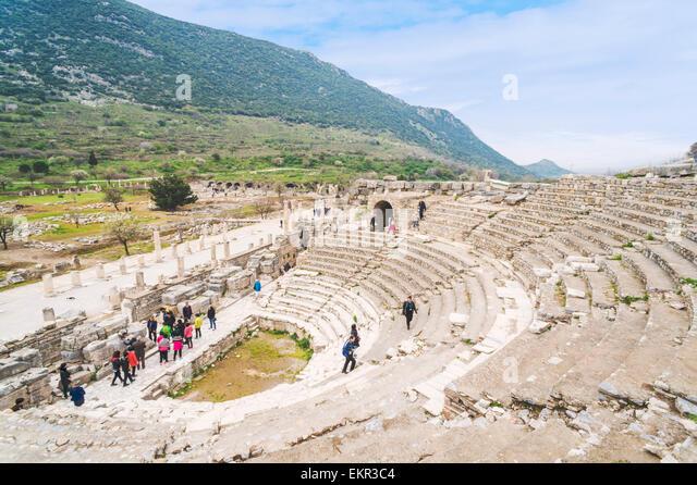 Odeon in Ephesus, Selcuk, İzmir Province, Aegean Region, Turkey - Stock Image