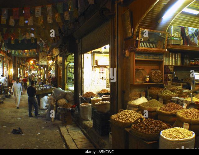Market (suq) in Aleppo - Stock Image